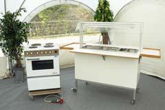Vi har et rimeligt stort udvalg af køkken og grill udstyr til